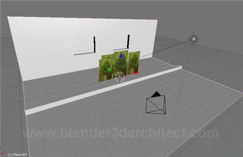 rendering trees in plan. If we render the scene using a