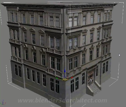 Four hour length tutorial on how to model a building for 3d house building