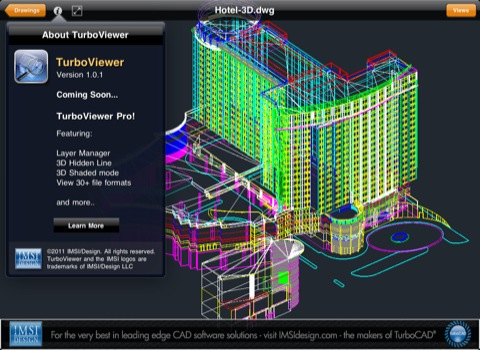 Turboviewer Open Dwg Files With 3d Data On The Ipad And