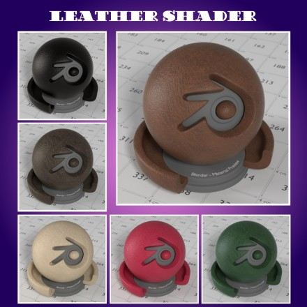 Free download of a realistic leather material for Blender