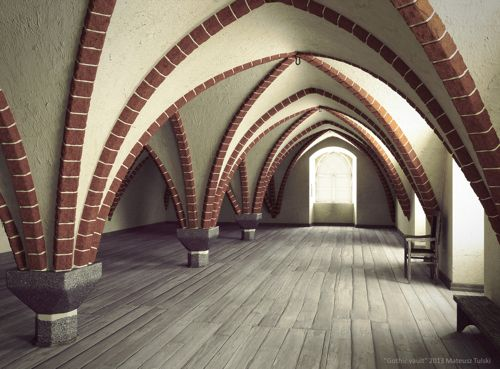 blender-yafaray-gothic-vault-architecture