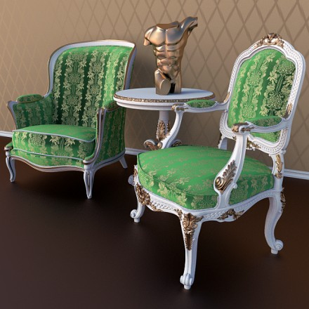 free-download-antique-chairs - Free Download Of An Antique Chairs Set • Blender 3D Architect