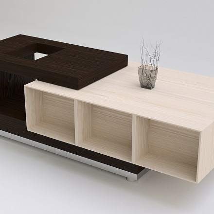 Free download of a modern coffee table made with Blender Blender