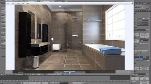 Modern bathroom visualization with Blender and Cycles