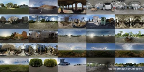 HDR maps for architecture