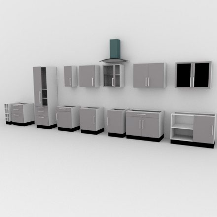 free download of kitchen cabinets blender 3d architect