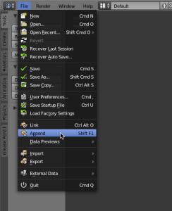 Figure 2.3 - File menu