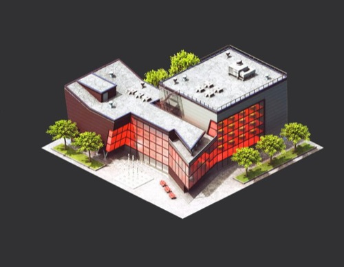Exceptionnel Isometric_buildings_black_500px