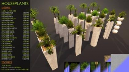 Free low poly plants