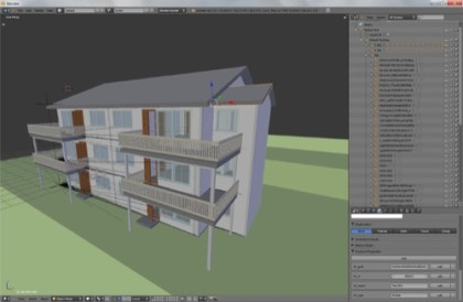 Project development for architecture with Blender