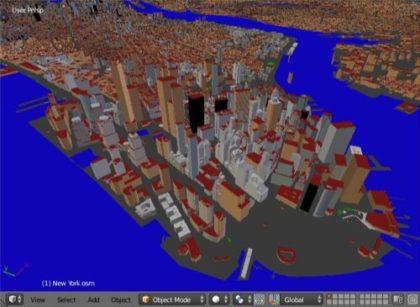 Urban environments in Blender