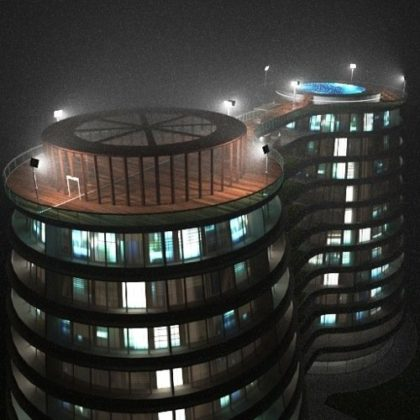 Volumetric lights for architecture