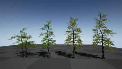 18 free trees for the Unreal Engine • Blender 3D Architect