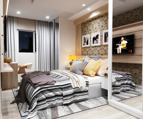 Renders 3d For Master Bedroom Project: Bedroom With Blender And Corona • Blender 3D Architect