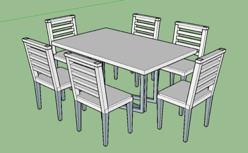 I Have This Simple Dining Table Model In SketchUp.