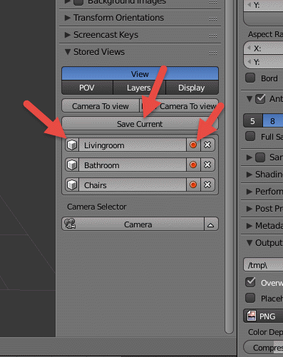 how to delete multiple views in blender