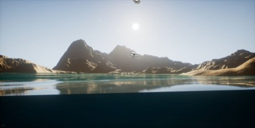 Free ocean-water simulation tool for the Unreal Engine