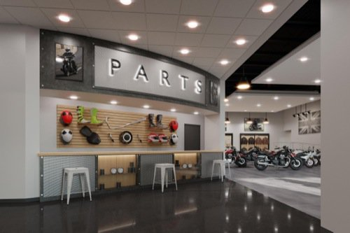Motorcycle retail store with Blender Cycles