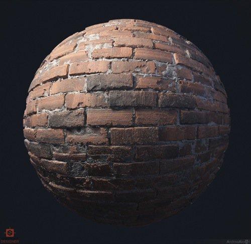 Free PBR Brick texture
