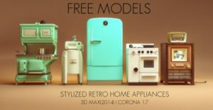 retro appliance furniture