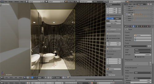 Eevee for interior visualization: Free Toilet scene