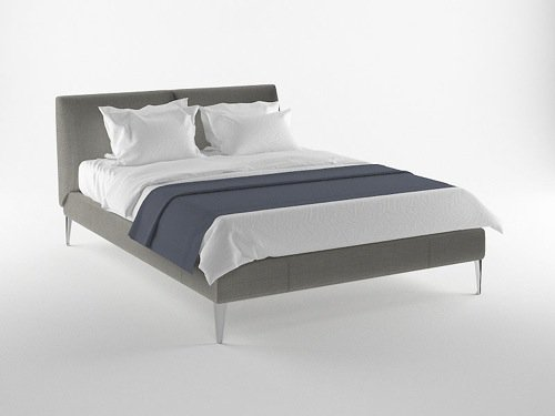 Four free bed models for Blender