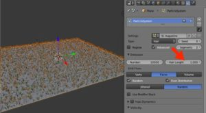 Grass for architecture in Blender