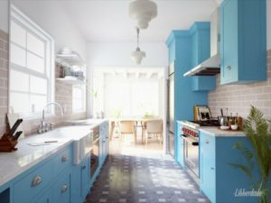 Vintage-inspired kitchen with Blender Cycles