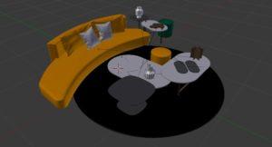Free sofa set for Blender