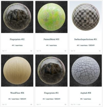 100 Free PBR textures in CC0