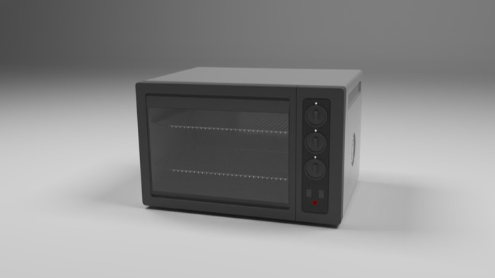 Free furniture for Blender: Toaster Oven and Kitchen oven