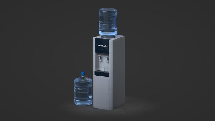 Free water cooler model for Blender • Blender 3D Architect