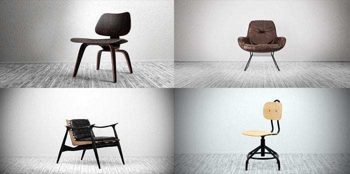Seven free furniture models for Blender • Blender 3D Architect