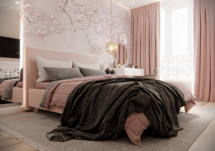 Pink bedroom with Blender Cycles • Blender 3D Architect