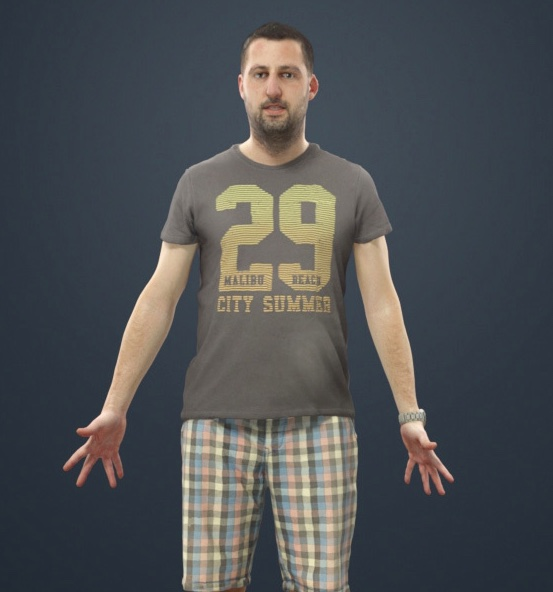 Free download: Casual animated human scale • Blender 3D Architect