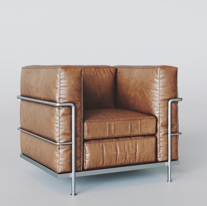 Free LC2 Armchair for Blender • Blender 3D Architect
