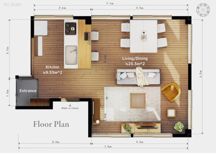 Rendering A Floor Plan With Blender 2 8 And Eevee Blender 3d Architect